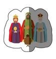 three wise men vector image vector image