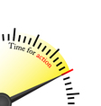 time for action - speedmetter vector image vector image