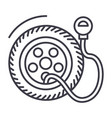 tire service pumptire pressure line icon vector image
