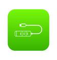 usb adapter connectors icon digital green vector image