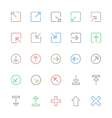 User Interface Colored Line Icons 7 vector image vector image