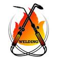 welding work symbol for a welder vector image vector image