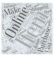 When Online Shopping Is Not Ideal Word Cloud vector image vector image