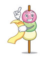 with menu dango mascot cartoon style vector image