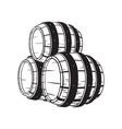 wooden whiskey barrel vector image