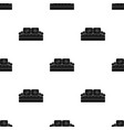 couch icon in black style isolated on white vector image