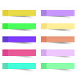 sticky notes 10 pcs vector image