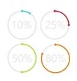 modern circle percent set background vector image