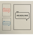 Set banners with speech bubbles on a simple cover vector image