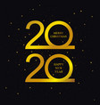 2020 new year and merry christmas banner vector image