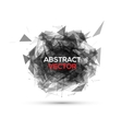 Abstract black geometric explosion speech vector image