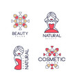 abstract outline emblems for beauty salon vector image vector image