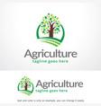 agriculture logo template design emblem design vector image
