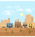an old western town in a daytime Saloon hotel and vector image