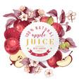 Apple juice paper emblem