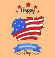 art card style independence day vector image vector image