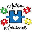 autism awareness on white background