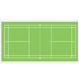 Badminton court vector image vector image