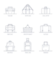 Bags and Boxes vector image vector image