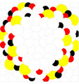 balls white red yellow black on white background vector image