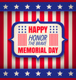 banner for memorial day vector image