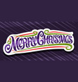 banner for merry christmas vector image vector image