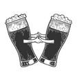 beer mug dance sketch engraving vector image vector image