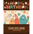 Birthday card with cute kittens vector image vector image