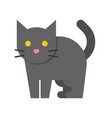 black cat halloween related icon vector image vector image