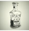 Bottle of Rum vector image