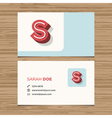 business card letter S vector image
