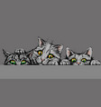 cats wall sticker graphic hand-drawn sketch vector image