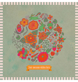 circle made flowers and birds round s vector image vector image
