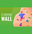 climbing wall concept banner cartoon style vector image vector image