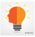Creative light bulb vector image