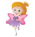 cute girl in purple fairy costume vector image vector image