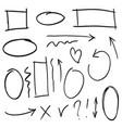 doodle design element doodle lines arrows vector image vector image