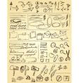 Doodles set for web site design vector image vector image