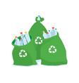 ecology friendly plastic bag for recycling vector image