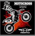 female motocross design - on vector image vector image