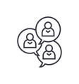 focus group discussion linear icon sign symbol vector image vector image