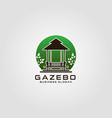 gazebo logo template vector image vector image