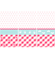 girl pattern pink wallpaper set vector image vector image