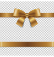 golden bow isolated transparent background vector image vector image