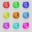 handset icon sign A set of nine original needle vector image vector image