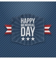 Happy Memorial Day realistic Banner with Text vector image vector image