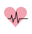 heart cardio isolated icon vector image vector image