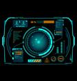 hud interface radar composition vector image vector image