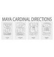 icon set with maya cardinal directions vector image vector image