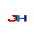 JH Logo Graphic Branding Letter Element vector image